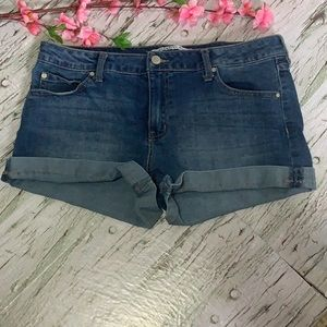 High Rise celebrity pInk Jean Short with Cuff - 30